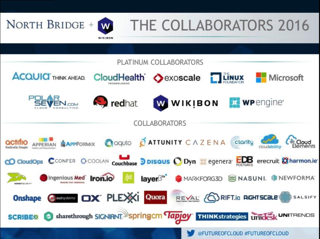 2016 Future of Cloud Computing survey - North Bridge
