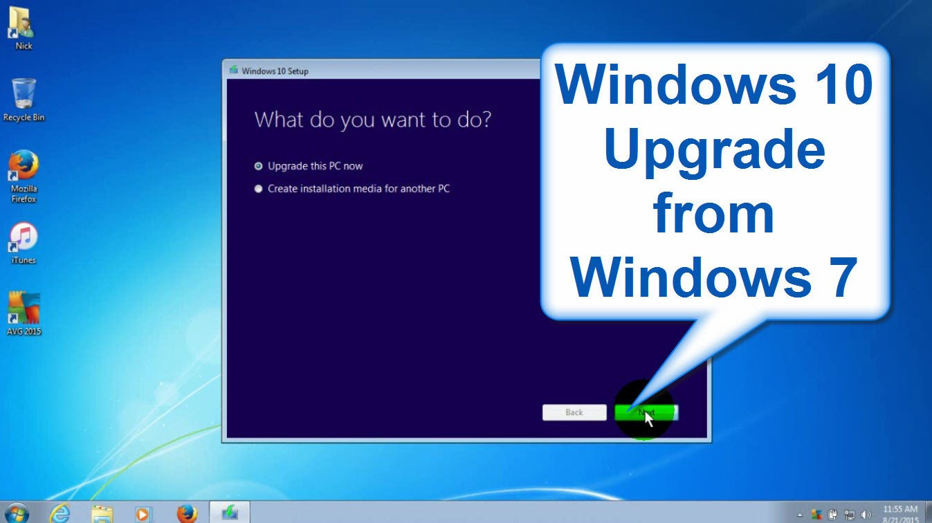 update windows 7 to windows 10 free 2017