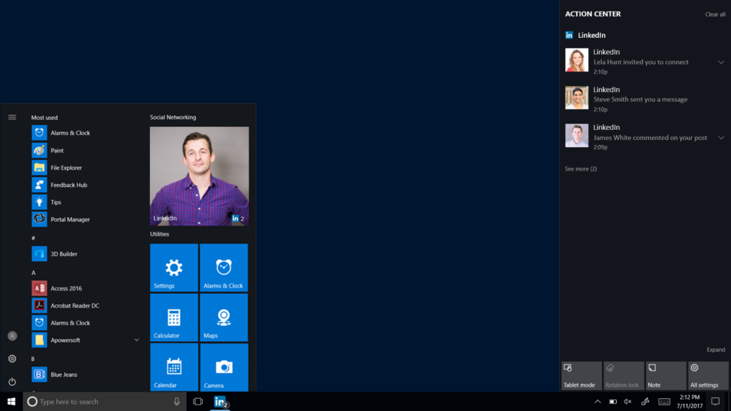 LinkedIn App for Windows 10 on Windows Store