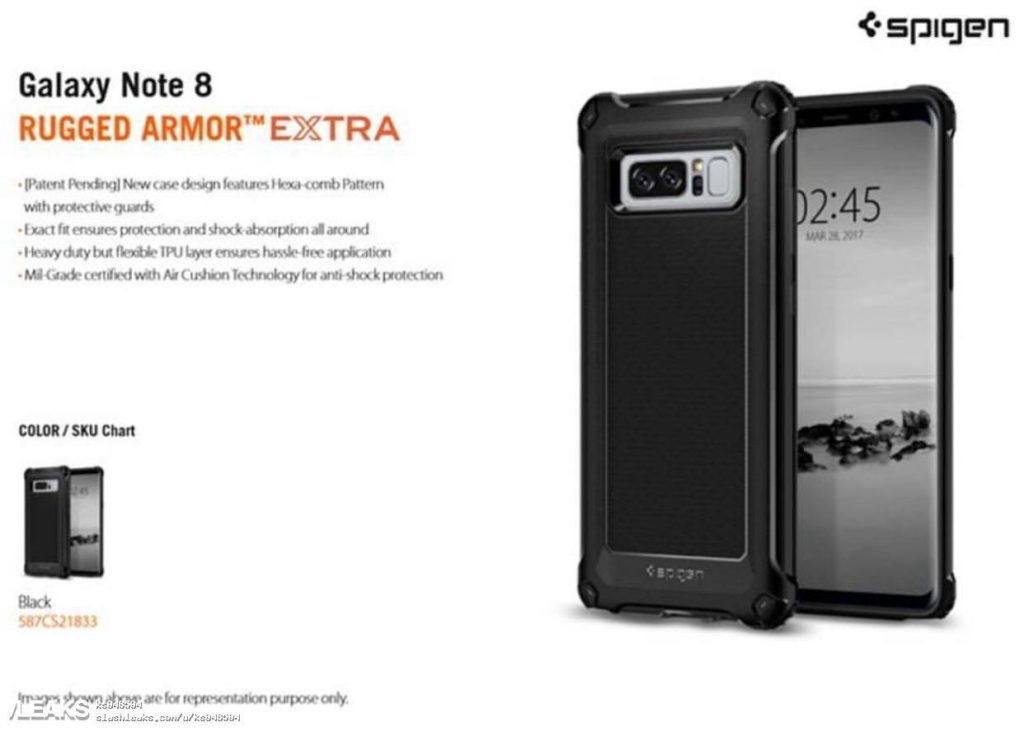 Galaxy Note 8 Spigen Leaks
