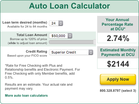 Dcu Car Loan >> Dcu Loan Calculator 1reddrop