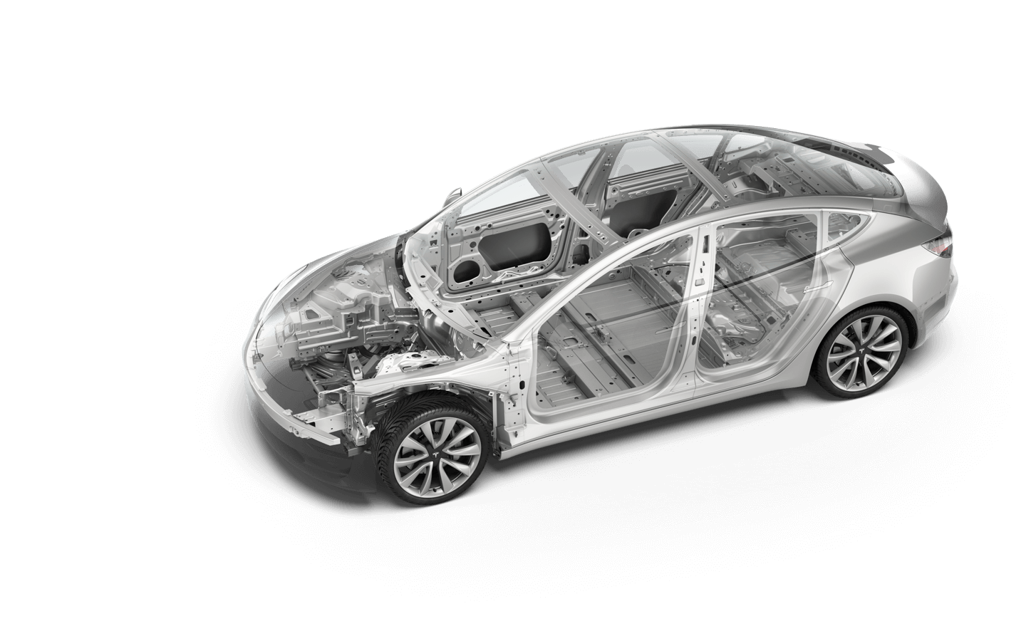 According To Tesla The Metal Structure Used Build Model 3 Is A Combination Of Aluminium And Steel Company Says That In Roof Crush Test