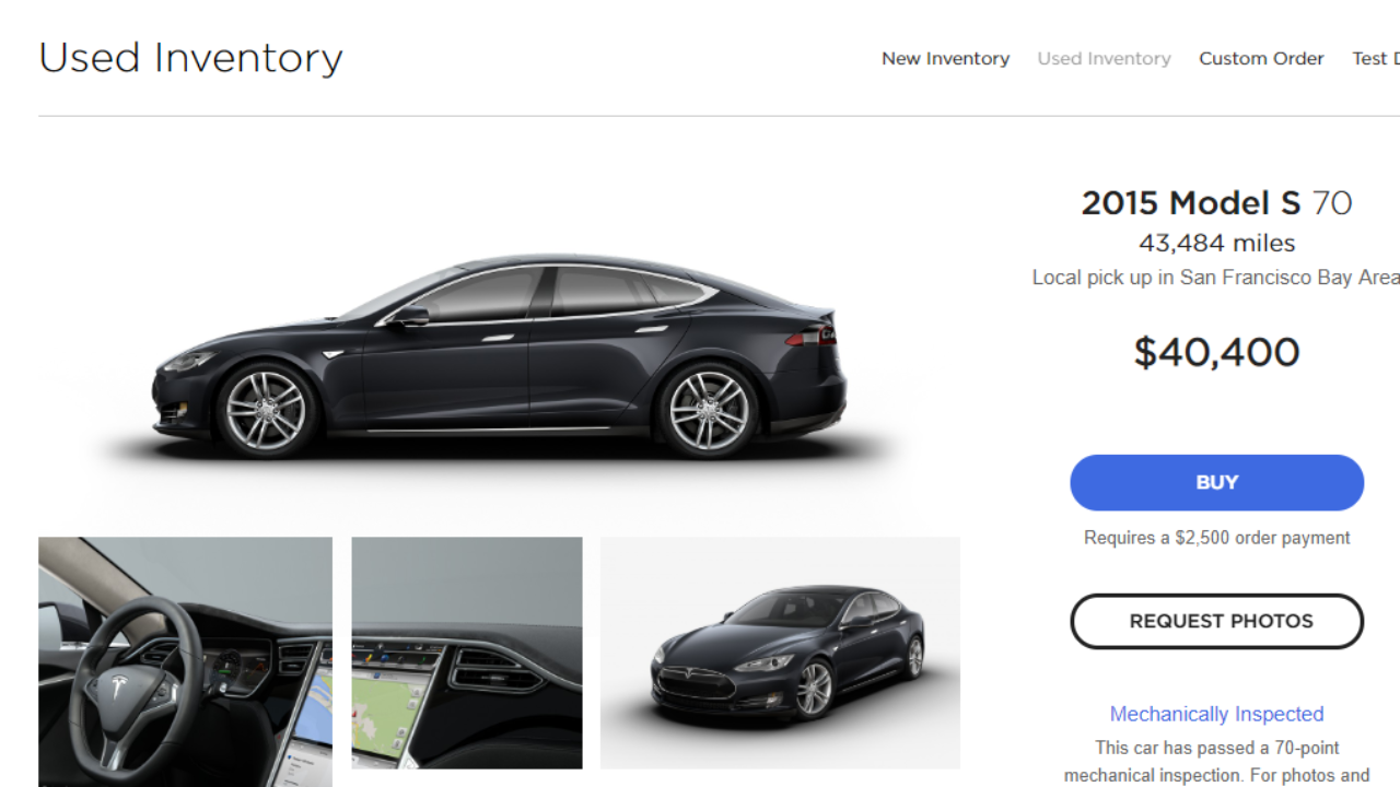 Used Tesla Model S Price Drops By 31 Thinknum 1reddrop