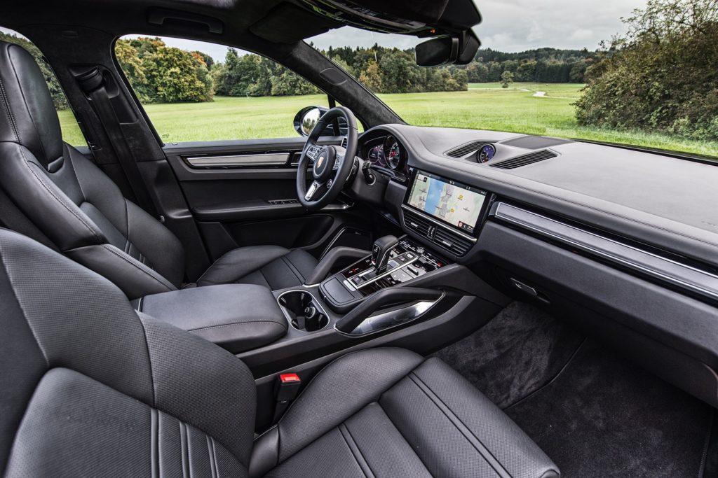 Porsche Cayenne interior view