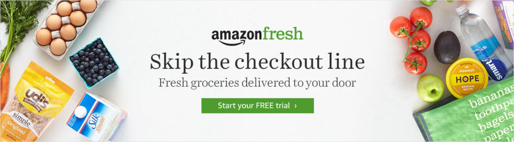 AmazonFresh Skip the Checkout line campaign