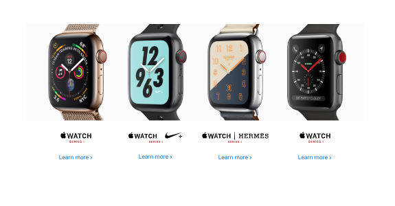 Apple Watch Series 4 editions Nike+ and Hermes
