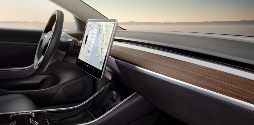 Simple Tesla Model 3 Interior