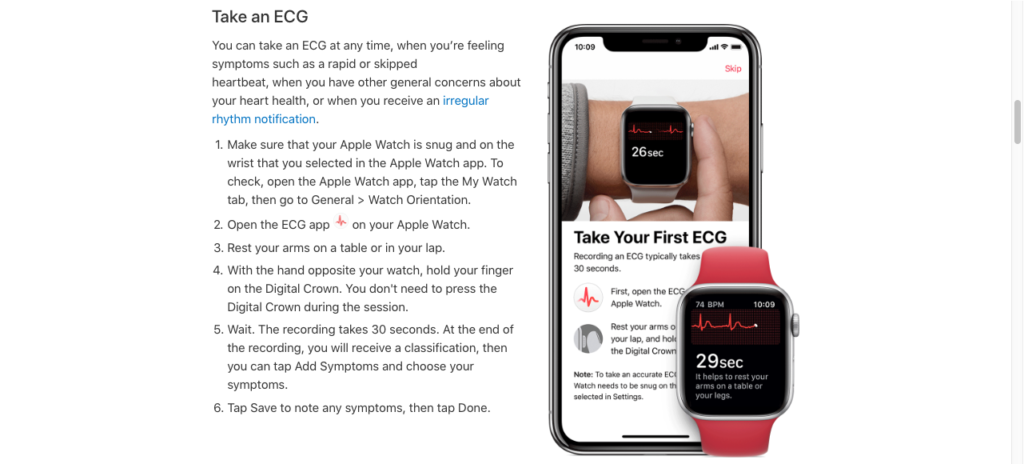 How to use ECG app to take an ECG Test on Apple Watch Series 4